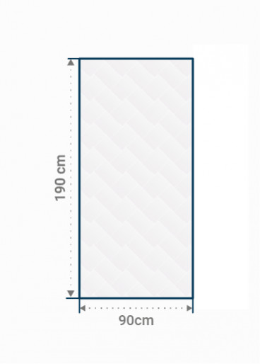 Matelas standard 90 x 190cm