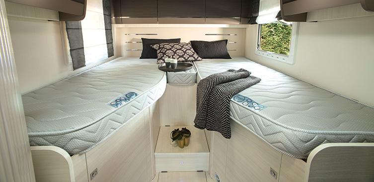 Matelas camping-car lits jumeaux